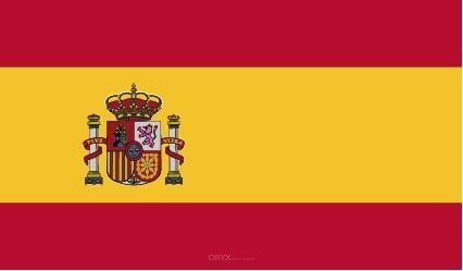 """Aufkleber """"Spanien Flagge"""" 100x60"""
