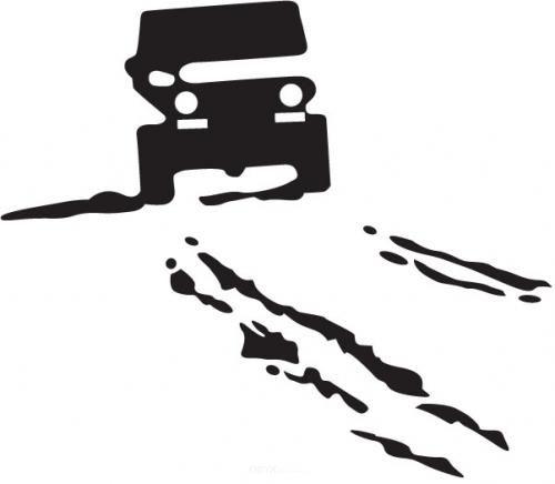 "Aufkleber ""Drive"" schwarz, 100x100"