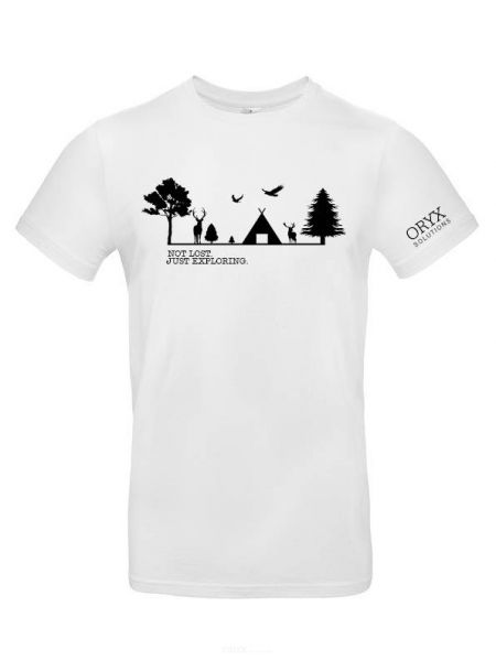 """T-Shirt """"Not Lost. Just Exploring."""" S"""