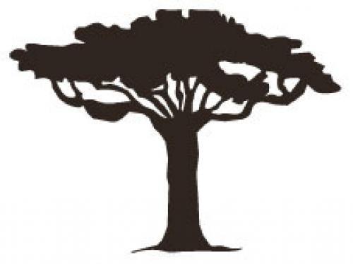 """Aufkleber """"Baum"""" Version 1 braun"""