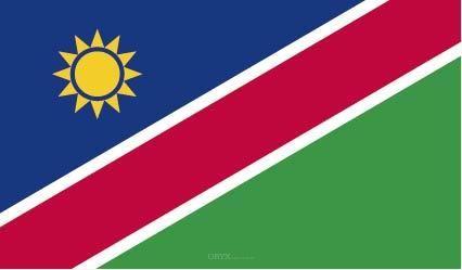 """Aufkleber """"Namibia Flagge"""" 100x60"""