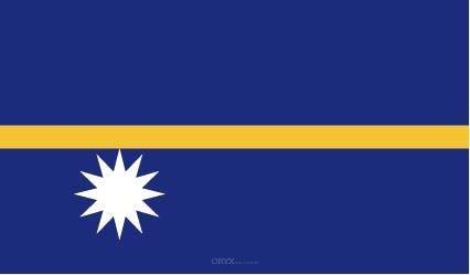 "Aufkleber ""Nauru Flagge"" 150x90"