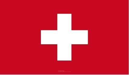 "Aufkleber ""Schweiz Flagge"" 100x60"