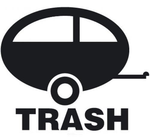 """Aufkleber """"Caravan-Trash"""" braun"""