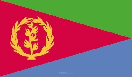 """Aufkleber """"Eritrea Flagge"""" 100x60"""