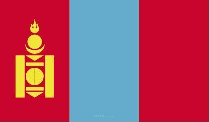 "Aufkleber ""Mongolei Flagge"" 100x60"