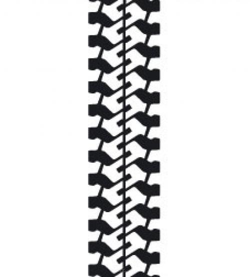 Aufkleber Reifenprofil / Reifenspur Version 8 braun