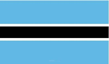 """Aufkleber """"Botsuana Flagge"""" 100x60"""
