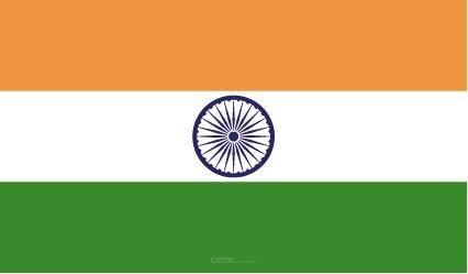"""Aufkleber """"Indien Flagge"""" 100x60"""