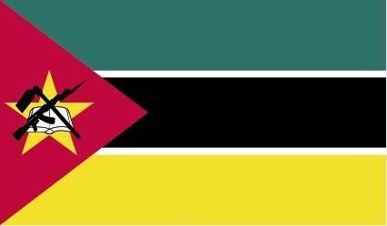 """Aufkleber """"Mosambik Flagge"""" 100x60"""