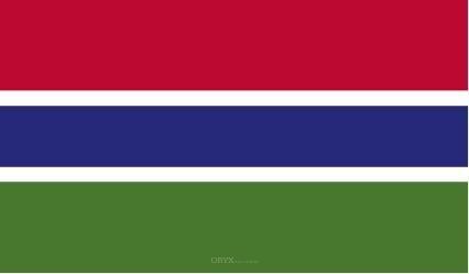 "Aufkleber ""Gambia Flagge"" 100x60"