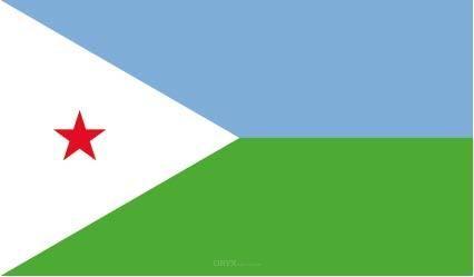 """Aufkleber """"Dschibuti Flagge"""" 100x60"""