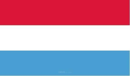 "Aufkleber ""Luxemburg Flagge"" 100x60"