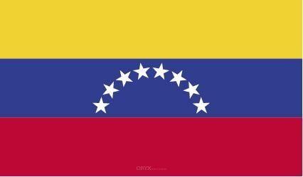 """Aufkleber """"Venezuela Flagge"""" 100x60"""