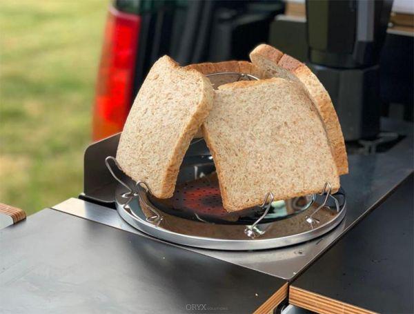 Toastaufsatz Edelstahl für 4 Scheiben Toast