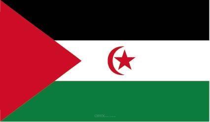 "Aufkleber ""Westsahara Flagge"" 100x60"