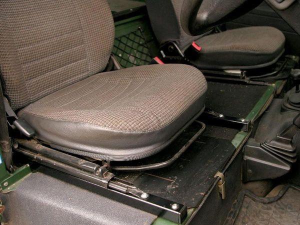 Sitzschienenverlängerung, für einen Sitz, passend für Defender