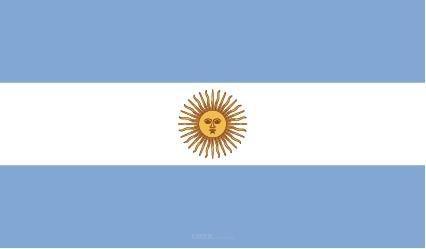 """Aufkleber """"Argentinien Flagge"""" 100x60"""