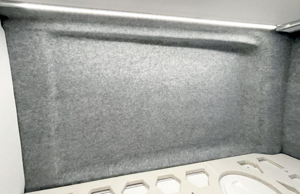 4D X-Trem Stretch-Carpet-Filz, silbergrau, 5 x 2 m (Grundpreis € 13,90 / m²)