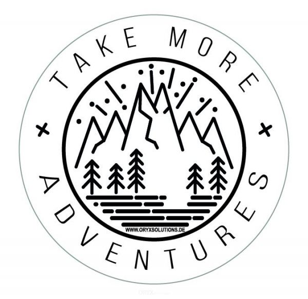 "Aufkleber ""TAKE MORE ADVENTURES"""