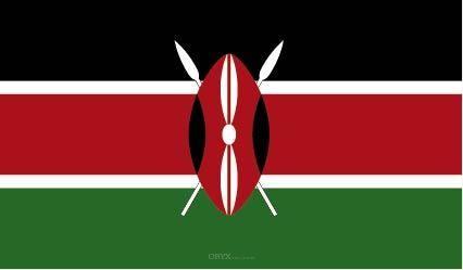 "Aufkleber ""Kenia Flagge"" 100x60"