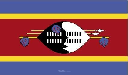 "Aufkleber ""Swasiland Flagge"" 150x90"