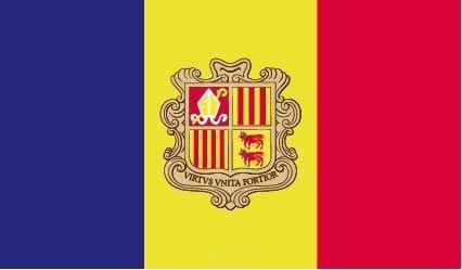 "Aufkleber ""Andorra Flagge"" 100x60"