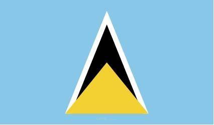 "Aufkleber ""St. Lucia Flagge"" 100x60"