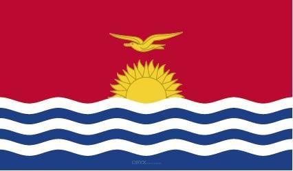 "Aufkleber ""Kiribati Flagge"" 100x60"