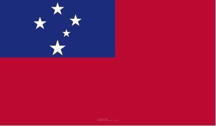 "Aufkleber ""Samoa Flagge"" 100x60"