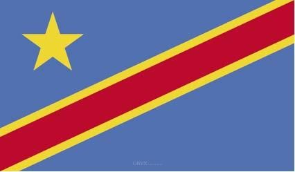 "Aufkleber ""Kongo Flagge"" 100x60"