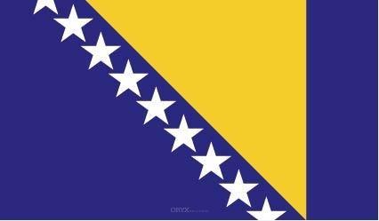 """Aufkleber """"Bosnien und Herzegowina Flagge"""" 100x60"""