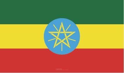 """Aufkleber """"Äthiopien Flagge"""" 150x90"""