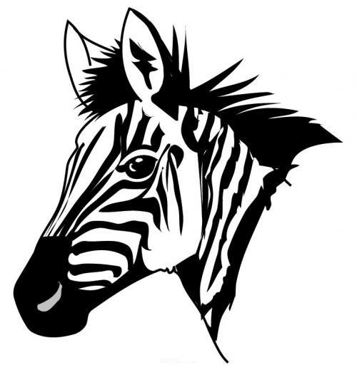 """Aufkleber """"Zebra"""" Version 1 schwarz, 200x200"""