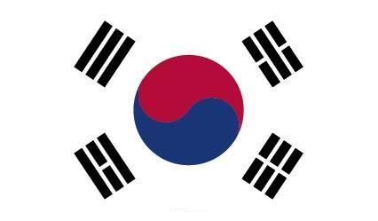 """Aufkleber """"Südkorea Flagge"""" 150x90"""