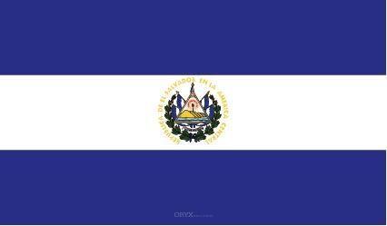 """Aufkleber """"El Salvador Flagge"""" 100x60"""