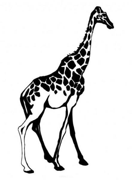 "Aufkleber ""Giraffe"" Version 2 braun"