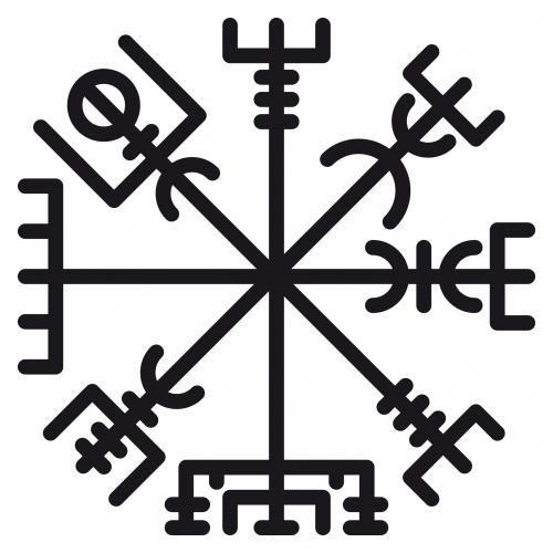 aufkleber wikinger windrose kompass aufkleber windrose. Black Bedroom Furniture Sets. Home Design Ideas