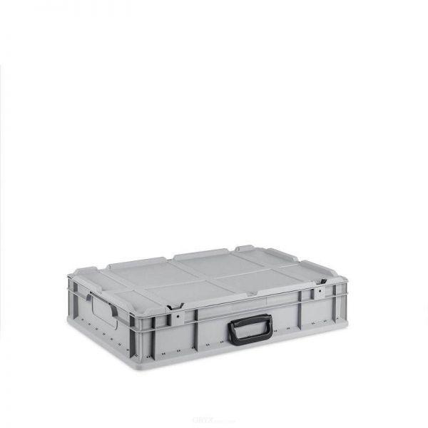 Eurobox, mit Deckel, 600mm, 23-Liter