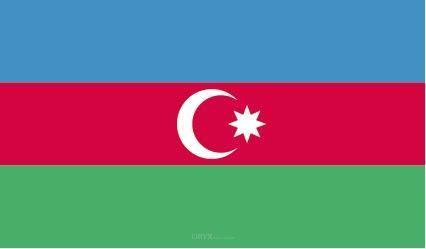 "Aufkleber ""Aserbaidschan Flagge"" 100x60"