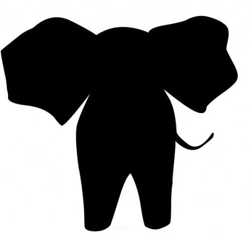 "Aufkleber ""Elefant back"" braun"