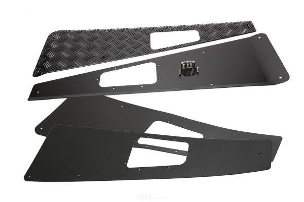 Riffelblech Schutz für Kotflügel, schwarz, passend für Defender TD4