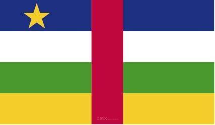 """Aufkleber """"Zentralafrikanische Republik Flagge"""" 150x90"""