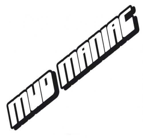 """Aufkleber """"Mud-Maniac"""" schwarz, 100x15"""