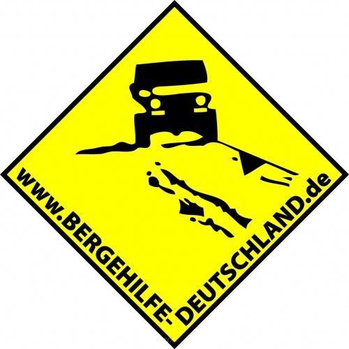 Aufkleber Bergehilfe Deutschland Hintergrund gelb ca. 100x100
