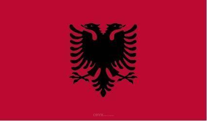 "Aufkleber ""Albanien Flagge"" 100x60"