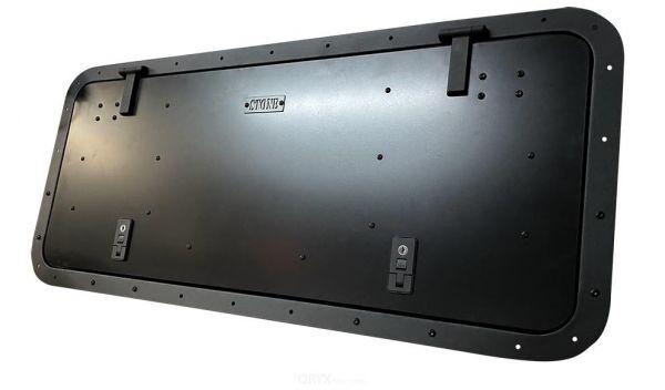 Gullwing / Seitenklappe, schwarz, HD Version, für Defender