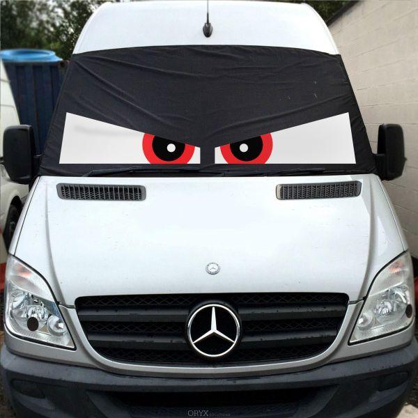 """Fahrerhaus Sonnenschutz """"Angry Eyes"""", passend für Sprinter Baujahr 2006-18"""