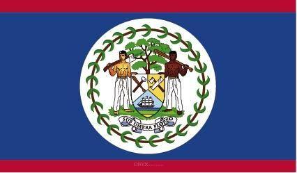 """Aufkleber """"Belize Flagge"""" 100x60"""