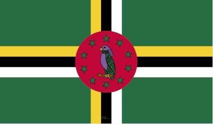 "Aufkleber ""Dominica Flagge"" 100x60"